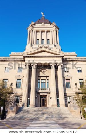 Dome of Manitoba Legislative Building in Winnipeg Stock photo © benkrut