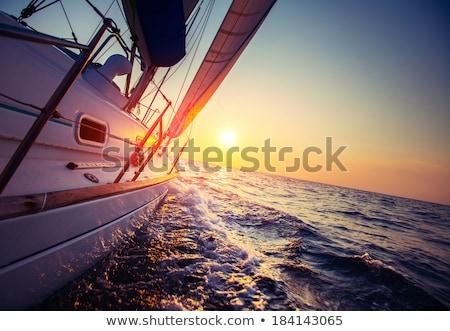 sailing set Stock photo © tracer