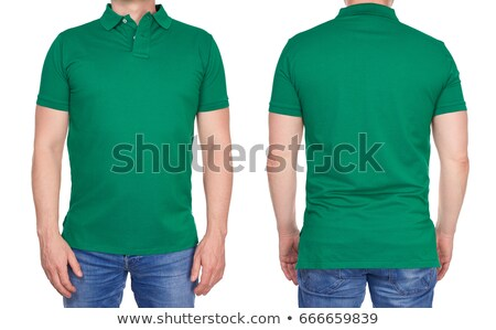 Polo Shirt green isolated Stock photo © ozaiachin