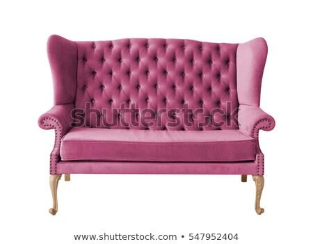 Soft purple lounger isolated on white Stock photo © ozaiachin