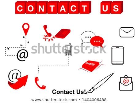 Sms texte rouge blanche rendu 3d affaires Photo stock © tashatuvango