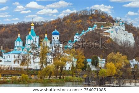 scenery svyatogorsk monastery stock photo © oleksandro