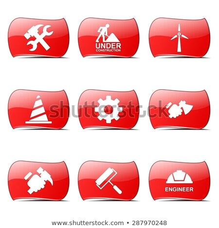 construction tools red vector buttonicon design set 2 stock photo © rizwanali3d