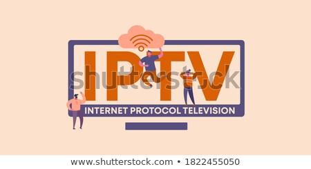 technologia · informacyjna · słowo · zielone · kolor · cyfrowe · technologii - zdjęcia stock © tashatuvango