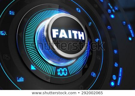 faith controller on black control console stock photo © tashatuvango
