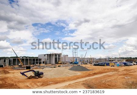 Grande excavadora tema construcción trabajo Foto stock © stoonn