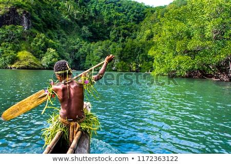 флаг · Папуа-Новая · Гвинея · текстуры · карта · дизайна · Мир - Сток-фото © istanbul2009