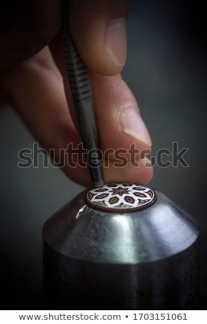 çalışmak · kuyumcu · takı · atölye · araçları · çalışma - stok fotoğraf © asturianu