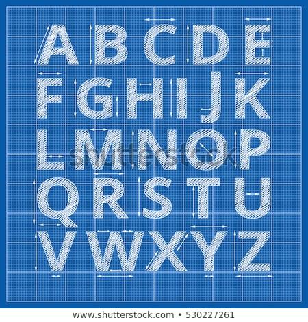 blueprint font stock photo © netkov1