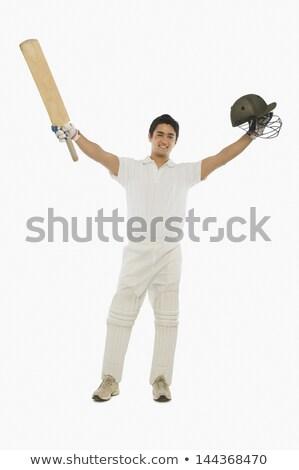 críquete · bat · homem · esportes · fotografia - foto stock © imagedb