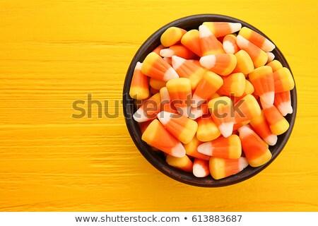 ボウル キャンディ トウモロコシ 素朴な 木製のテーブル 1 ストックフォト © rojoimages