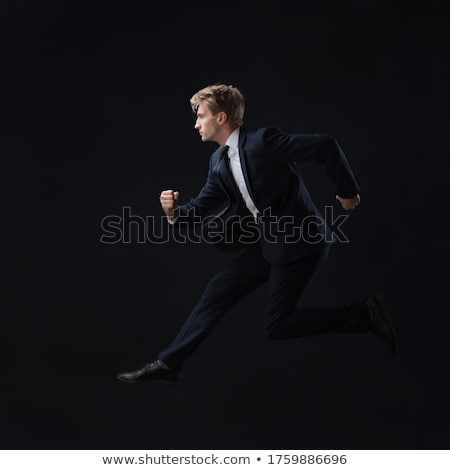 Businessman quickly runs Stock photo © alphaspirit