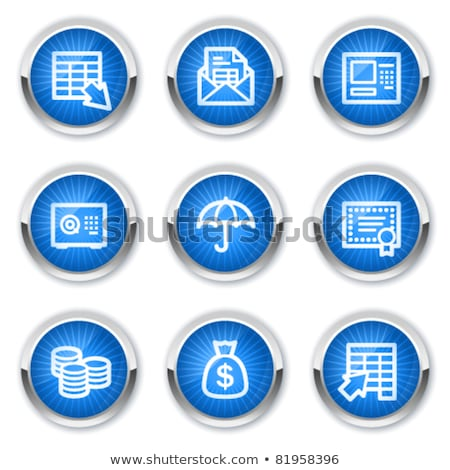 Vault Blue Vector Icon Button Stock photo © rizwanali3d