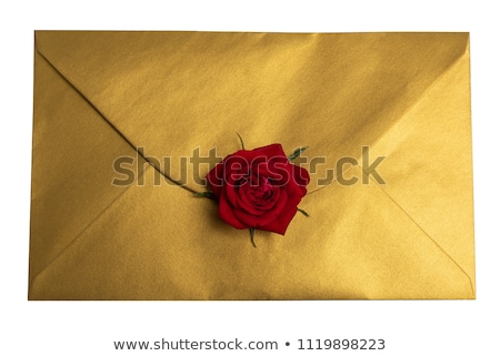 Christmas message with red wax seal Stock photo © ssuaphoto