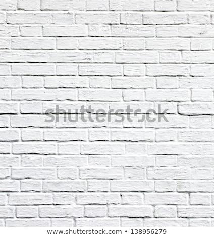 row of black frames on white brick wall Stock photo © Paha_L