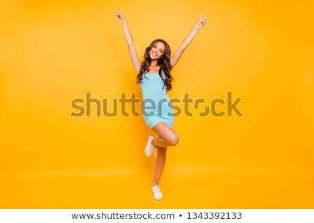 フィットネス · 時間 · 小さな · 美人 · 行使 · 少女 - ストックフォト © dash