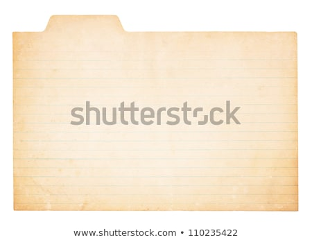 Old, Yellowing Index Card Stock photo © 3mc