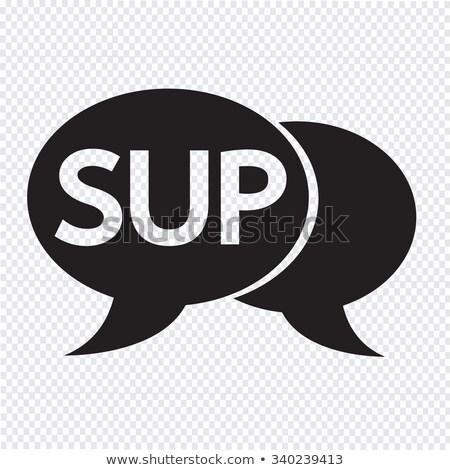 Internet acronimo chattare bolla illustrazione design sfondo Foto d'archivio © kiddaikiddee