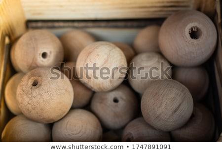 wooden beads background  Stock photo © jonnysek
