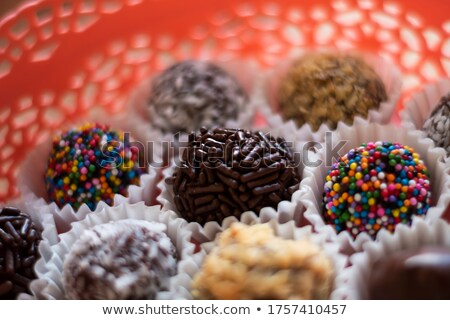 chocolade · papier · snoep · beker · dessert - stockfoto © digifoodstock