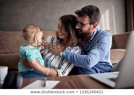 gülme · ebeveyn · bebek · diğer · baba - stok fotoğraf © dariazu