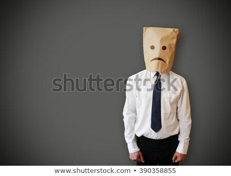 бизнесмен несчастный лице негативных изображение Сток-фото © andreasberheide