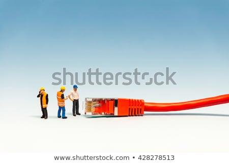 ağ · kablo · ağ · makro · fotoğraf · bilgisayar - stok fotoğraf © kirill_m