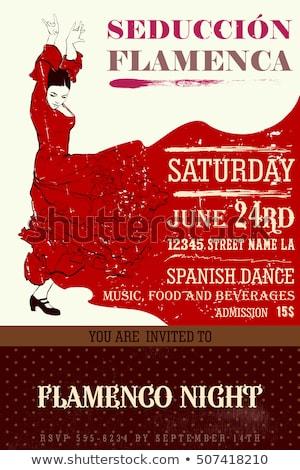 Flamenco vestir cartão papel festa moda Foto stock © carodi