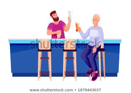 young business resting on a stool Stock photo © feedough