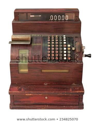 velho · caixa · registradora · pormenor · vintage · sujo · metal - foto stock © digifoodstock