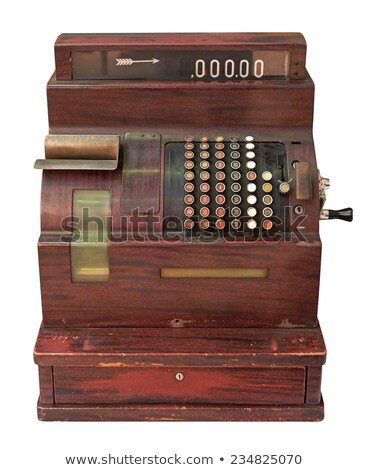 vintage · caixa · registradora · isolado · branco · negócio - foto stock © digifoodstock