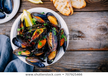 dish with mussels stock photo © antonio-s