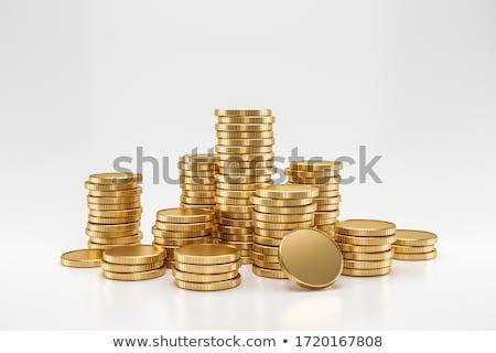 dourado · 3D · caixas · texto · financiar · preto - foto stock © marinini