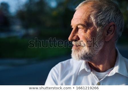 Stockfoto: Portret · senior · man · buitenshuis · lopen · park