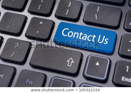 kék · kapcsolatfelvétel · gomb · billentyűzet · numerikus · billentyűzet · belépés - stock fotó © oakozhan