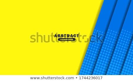 modern yellow business card. Business vector design illustration Stock photo © SArts