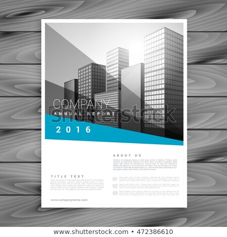 comnpany annual report flyer brochure template Stock photo © SArts