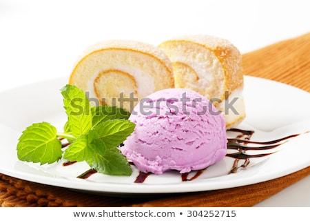 Rulo dondurma yaban mersini kek Stok fotoğraf © Digifoodstock