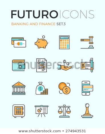 Inkomsten calculator business icon ontwerp geïsoleerd Stockfoto © WaD