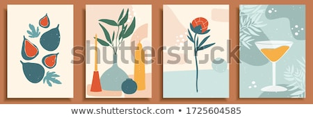 Vektor egyszerű illusztráció gyümölcs rajz stílus Stock fotó © Vertyr