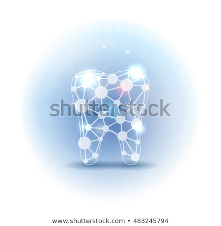 scientific abstract tooth beautiful design light blue color stock photo © tefi