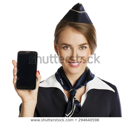 スチュワーデス 話し 携帯電話 小さな 白人 ストックフォト © RAStudio