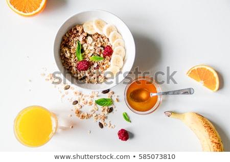 Ontbijt sinaasappelsap vruchten Stockfoto © M-studio