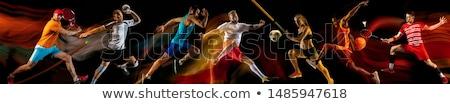 Portrait of female player holding rugby ball Stock photo © wavebreak_media