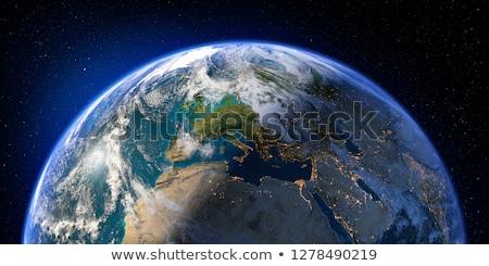 Aarde opluchting communie afbeelding wolken licht Stockfoto © ixstudio