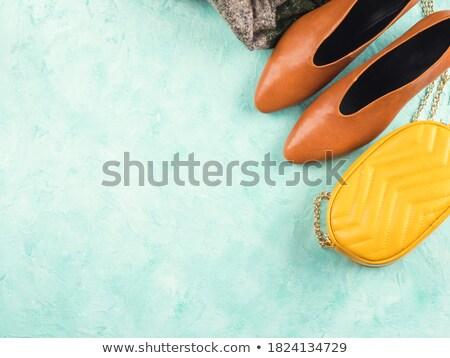 żółty torebka jasne kobiet moda Zdjęcia stock © Fisher
