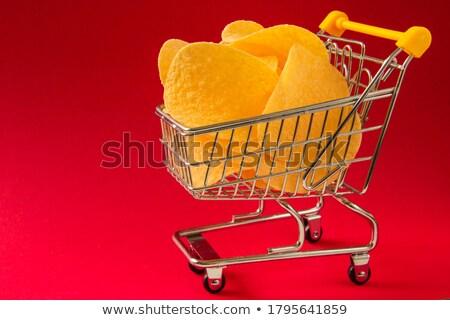 cesta · de · la · compra · moneda · blanco · negocios · metal · compras - foto stock © iserg