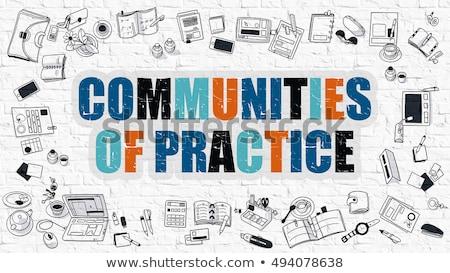 Communities of Practice Concept. Multicolor on White Brickwall. Stock photo © tashatuvango