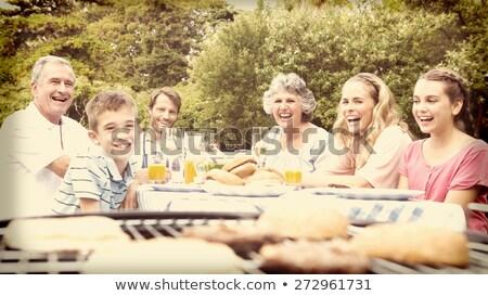 две женщины смеясь барбекю вино очки весело Сток-фото © IS2