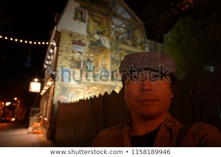 Man standing in front of fresco Stock photo © IS2